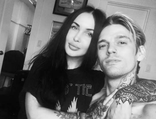 Slide 71 of 117: According to TMZ, singer-actor Aaron Carter and Russian artist Lina Valentina called it quits in mid-February. Aaron went public with their romance in September 2018.