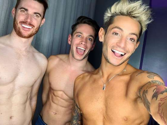 Slide 76 of 117: In October 2018, Frankie Grande revealed he'd been in a relationship with a married couple, Mike Pophis and Daniel Sinasohn, for almost three months. In January 2019, Ariana Grande's reality TV star brother revealed he was no longer a part of the
