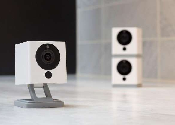 a close up of a speaker: This tiny security camera can fit anywhere in your home.