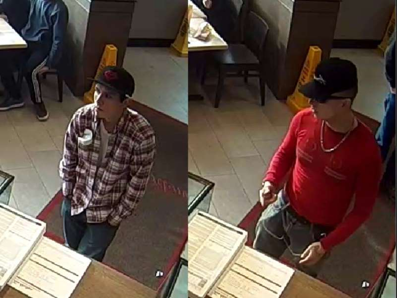 a group of people in a room: The Alberta RCMP Major Crimes Unit is looking for assistance to identify the two males in the attached photos. Photos supplied by RCMP