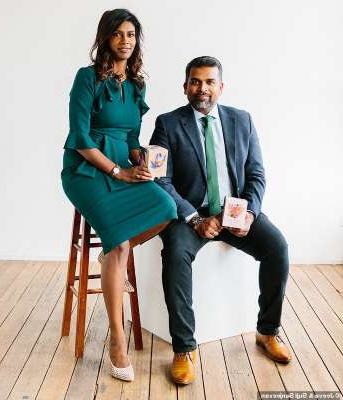 a man and a woman sitting on a bench: Wanting to be 'industry leaders in the field of ambience', Jeeva and Suji wanted to stand out from what is a very saturated industry