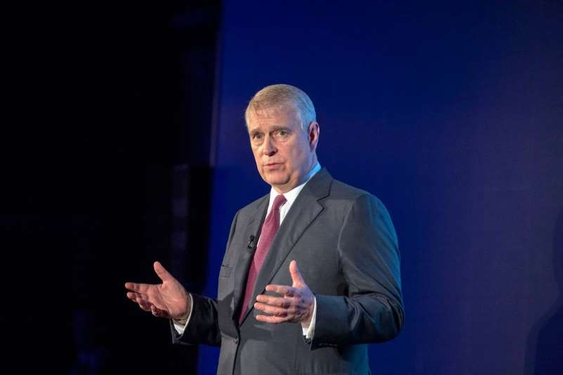 Prince Andrew, Duke of York wearing a suit and tie: The Duke of York has spoken for the first time about his links to Jeffrey Epstein