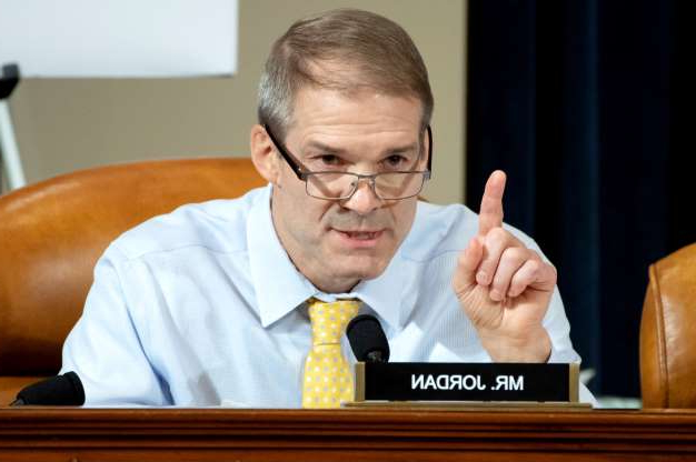 Slide 18 of 52: Representative Jim Jordan, Republican of Ohio, asks questions of witnesses US Ambassador to Ukraine William Taylor and Deputy Assistant Secretary George Kent during the first public hearings held by the House Permanent Select Committee on Intelligence as part of the impeachment inquiry into US President Donald Trump, on Capitol Hill in Washington, DC, November 13, 2019.