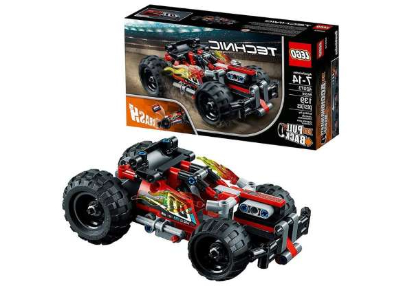 the engine of a car: For under $20, kids 7 and up will love the Technic Bash, Lego's buildable race car designed to crash.