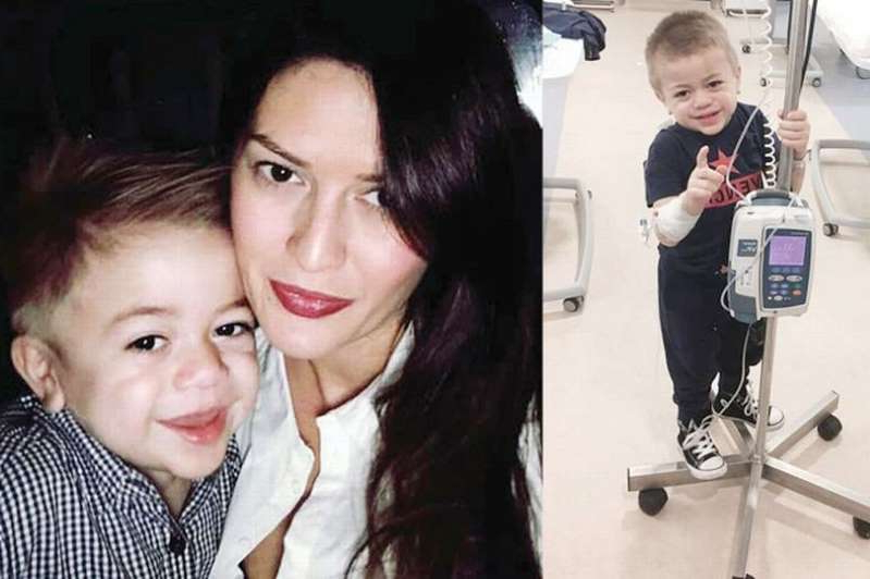 a person posing for the camera: Grieving mum Victoria Djemat hit out at theNHS after the death of her son Mason
