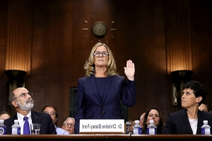 Christine Blasey Ford makes rare appearance to accept award