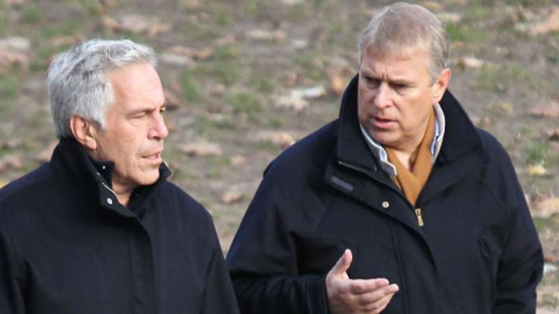 Prince Andrew, Duke of York, Jeffrey Epstein are posing for a picture: Prince Andrew pictured with Jeffrey Epstein