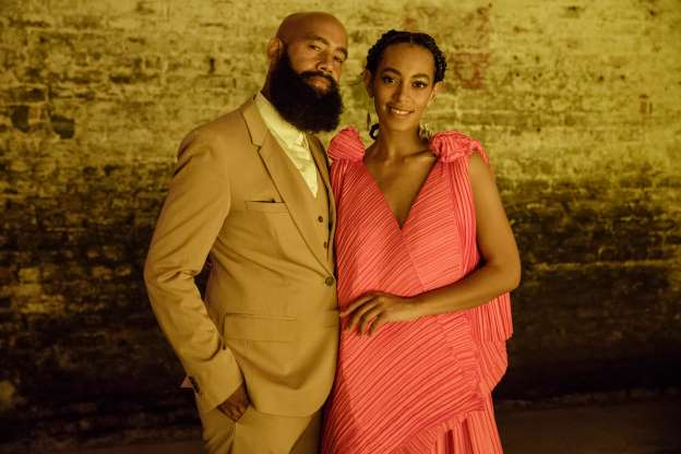 Slide 3 of 47: NEW ORLEANS, LA - OCTOBER 07: (EXCLUSIVE COVERAGE) Solange Knowles (L) and Alan Ferguson attend