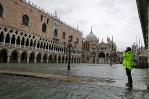 Venice hit by third exceptional tide in less than a week