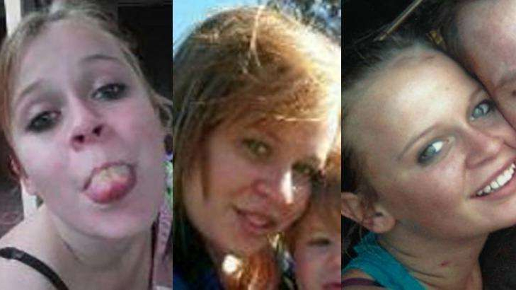 a close up of a man and woman posing for the camera: Katrina Bohnenkamp has been missing since 2012.