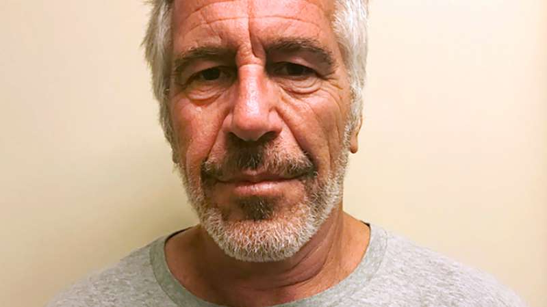 Jeffrey Epstein wearing glasses: Jeffrey Epstein died in a Manhattan federal jail in August after he was indicted on sex trafficking charges.