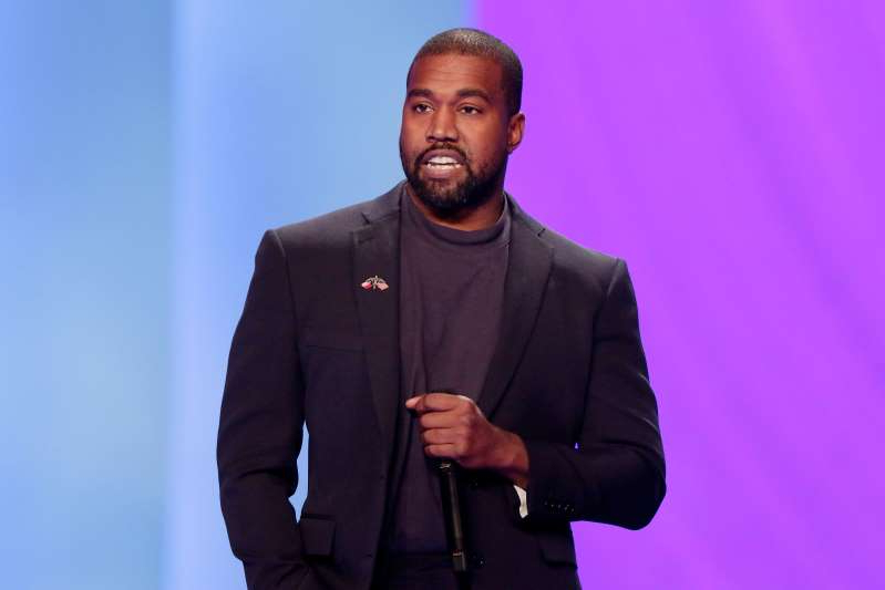 Kanye West wearing a suit and tie: Kanye West appears at Lakewood Church in Houston, Texas, on Nov. 17, 2019.