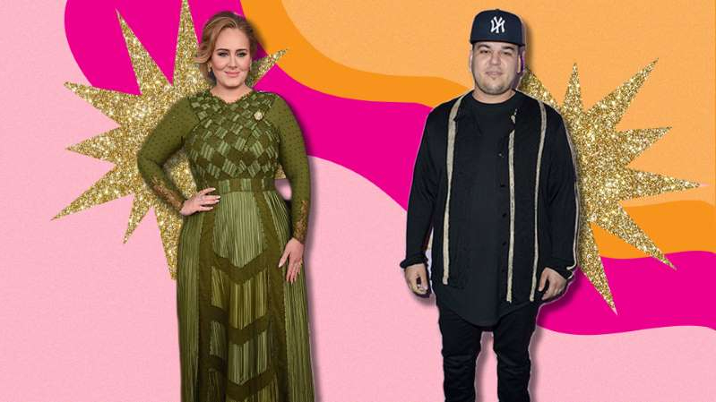 Rob Kardashian, Adele are posing for a picture: Complimenting Celebrities On Their Weight Loss Is Dangerous