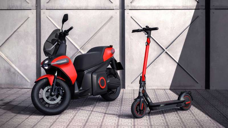 Seat-Studien eines E-Scooters und E-Kickscooters