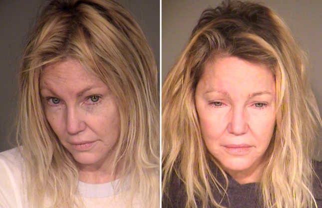 Slide 12 of 113: Heather Locklear booking photo