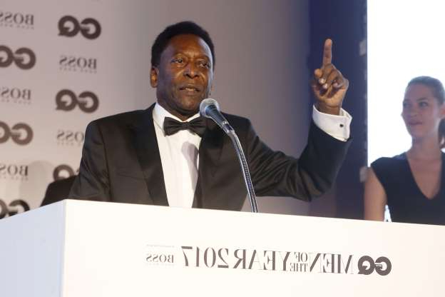 Slide 18 of 18: Pele after receiving the inspiration Award at the GQ Men of the Year Awards inside Tate Modern, London, UK, on September 5, 2017.