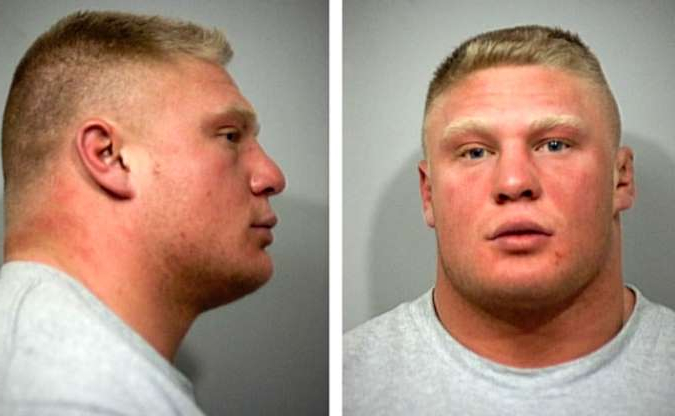 Slide 98 of 113: Police mugshots Brock Lesnar