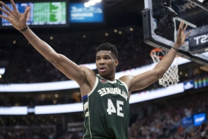 Watch: Bulls player has great reaction to Giannis Antetokounmpo airball