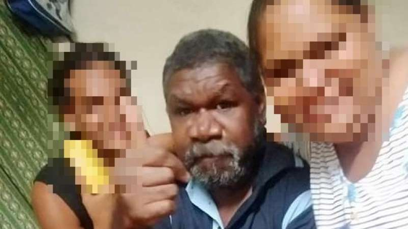 a man wearing a black shirt: Jerry David spent four days lost in bushland in remote Cape York, surviving by drinking from waterholes. (Supplied)