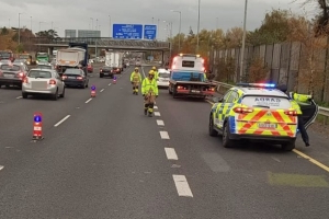 Motorcyclist, 29, dies following collision on M50 merge ramp