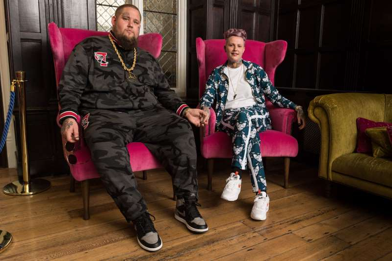 Rory Graham, known as Rag'n'Bone Man, and Beth Rouy during their wedding at Lewes Registry Office on May 2, 2019 in Brighton, England.