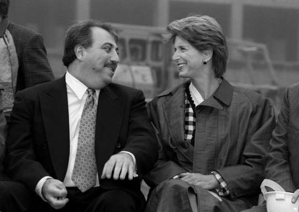 Slide 1 of 12: Gov. Christie Whitman and Fred Daibes, developer of the former Alcoa site in Edgewater share a laugh before Whitman signed a bill which will make it easier to build on contaminated sites. Jan. 6, 1998.