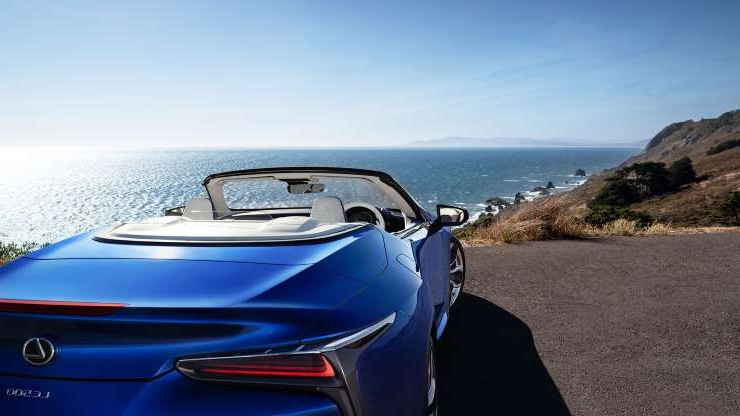Slide 2 of 21: 2021-Lexus-LC500-Convertible-detail.jpg