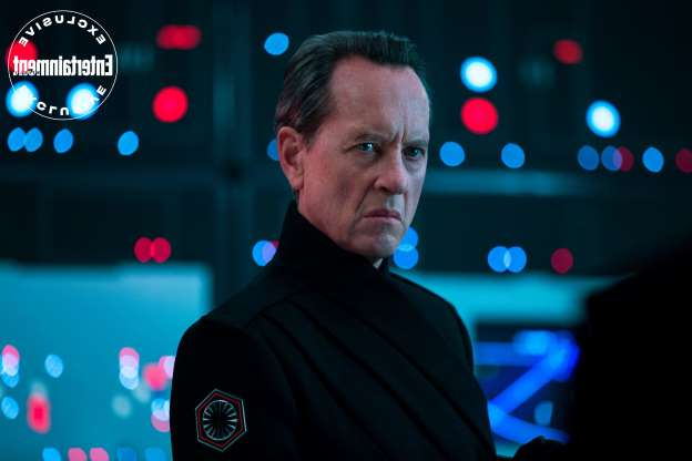 Slide 5 of 12: Another newcomer to the saga, First Order Allegiant General Pryde (Richard E. Grant).