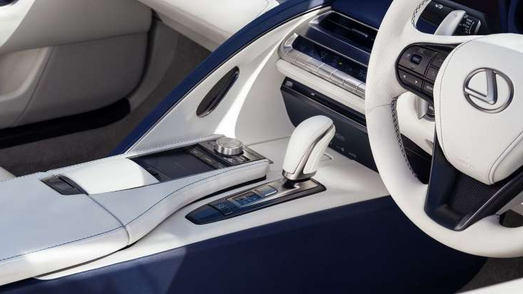Slide 6 of 21: 2021-Lexus-LC500-Convertible-interior-2.jpg