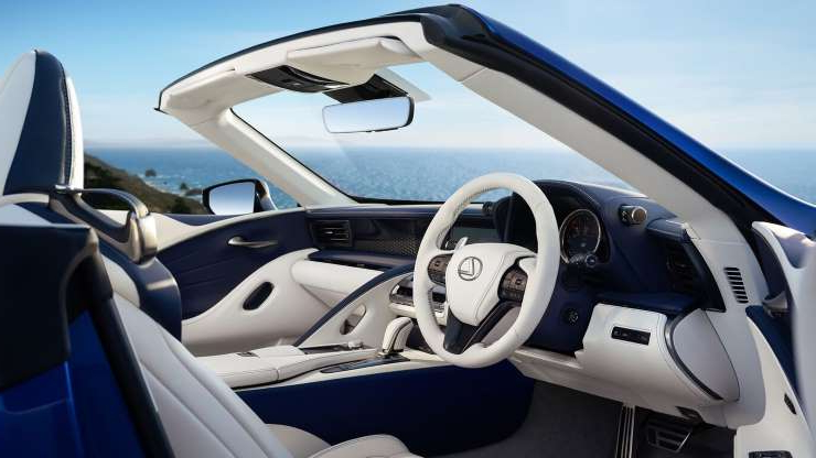 Slide 7 of 21: 2021-Lexus-LC500-Convertible-interior-3.jpg