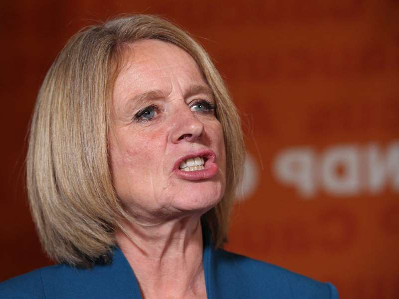 a close up of Rachel Notley: Alberta NDP Leader Rachel Notley, seen in a photo from Oct. 24, 2019, is attempting to prevent the UCP provincial government from eliminating the office of the Election Commissioner.