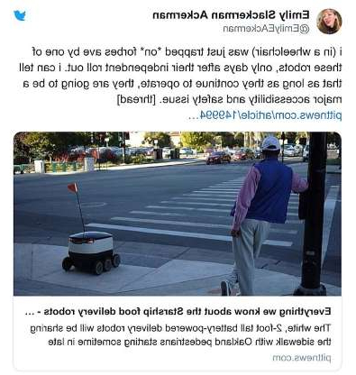 a screenshot of a social media post: 'I found myself sitting in the street as the traffic light turned green, blocked by a non-sentient being incapable of understanding the consequences of its actions,' Ackerman revealed