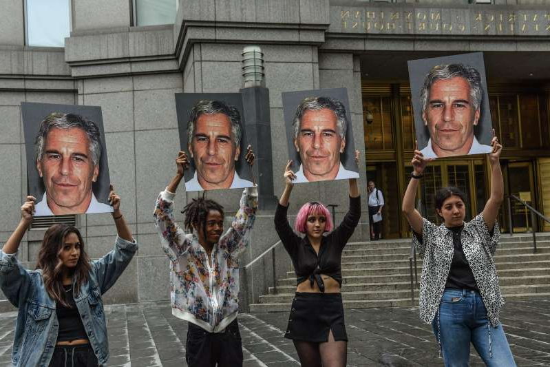 Jeffrey Epstein, Jeffrey Epstein, Jeffrey Epstein, Jeffrey Epstein posing for the camera: Image: Jeffrey Epstein Appears In Manhattan Federal Court On Sex Trafficking Charges