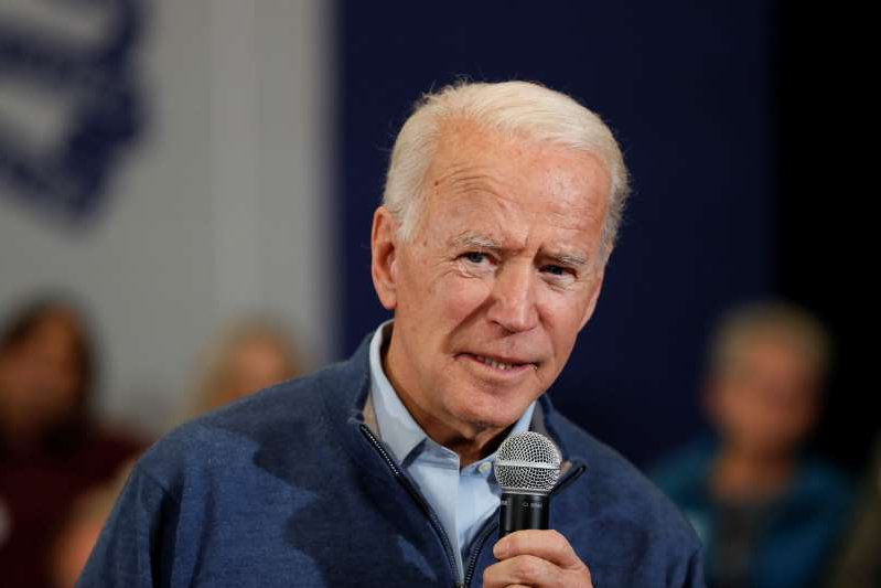 Democratic presidential candidate former Vice President Joe Biden speaks during a town hall meeting, Friday, Nov. 22, 2019, in Winterset, Iowa. (AP Photo/Charlie Neibergall)