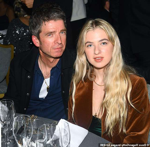 Noel Gallagher et al. posing for the camera: Rumours: Noel Gallagher's daughter Anais, 19 (pictured above with the Oasis singer in October) is reportedly dating punk rock singer Yungblud