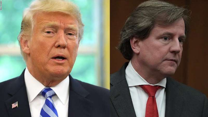 Don McGahn, Donald Trump are posing for a picture
