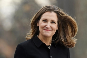 Freeland in Alberta to meet with Kenney, Iveson in first trip since being named deputy PM