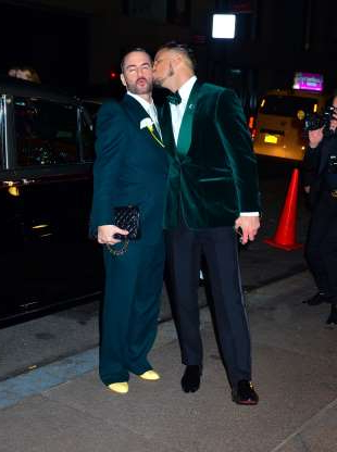 Slide 107 of 132: Marc Jacobs got a kiss from new husband Char Defrancesco as they arrived at their wedding reception in New York City on April 6.
