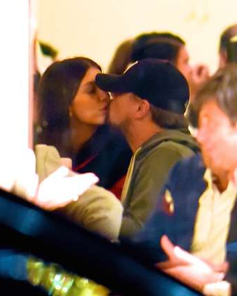 Slide 23 of 132: Leonardo DiCaprio and girlfriend Camila Morrone shared a rare moment of PDA while having dinner in New York City on Jan. 9.