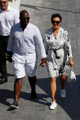 Slide 55 of 132: Kris Jenner and Corey Gamble held hands while on vacation in Monte Carlo, Monaco, on Aug. 20.