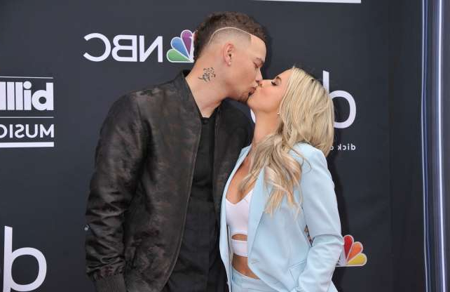 Slide 75 of 132: Katelyn Jae kissed husband Kane Brown as they arrived at the 2019 Billboard Music Awards in Las Vegas on May 1.