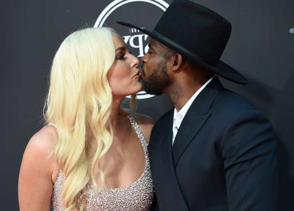 Slide 77 of 132: NHL player P.K. Subban kissed his girlfriend, Olympic skier Lindsey Vonn, as they hit the red carpet at the ESPY Awards in Los Angeles on July 10.