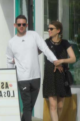 Slide 88 of 132: Then-pregnant Kate Mara and husband Jamie Bell enjoyed an affectionate stroll while out shopping in Los Angeles on April 8.