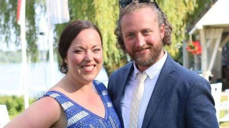 a man and a woman posing for the camera: Roderick Deakin-White, 38, has been sentenced to life in prison for bludgeoning Amy Parsons, 35, with a metal bar while she was showering.