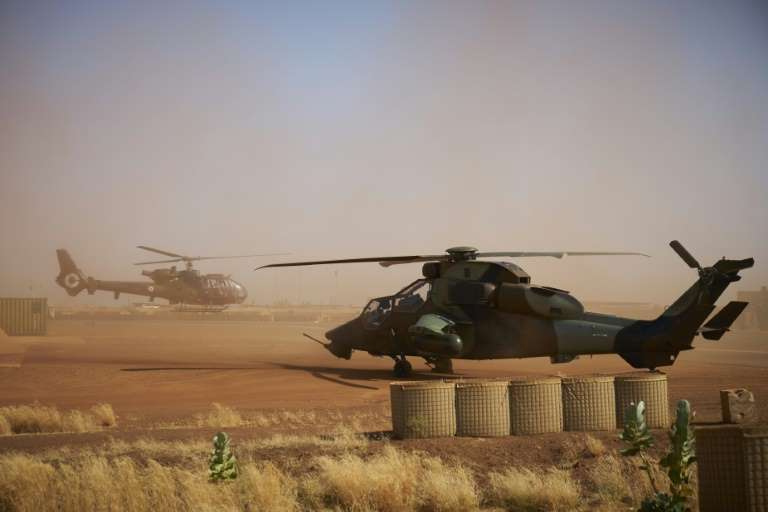 The mid-air collision involved a model of the Tiger helicopter, seen here in this picture taken in northern Mali on November 8