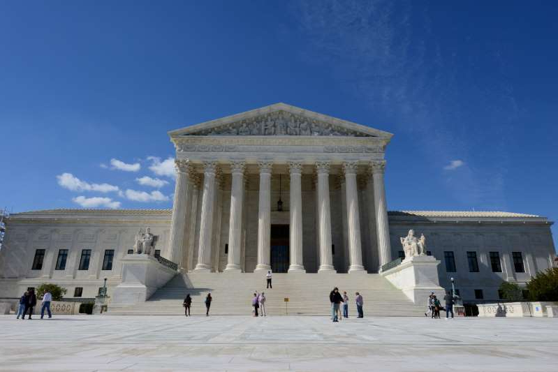 The Supreme Court Building is the seat of the Supreme Court of the United States. Washington     (Photo by JOKER / Hady Khandani/ullstein bild via Getty Images)