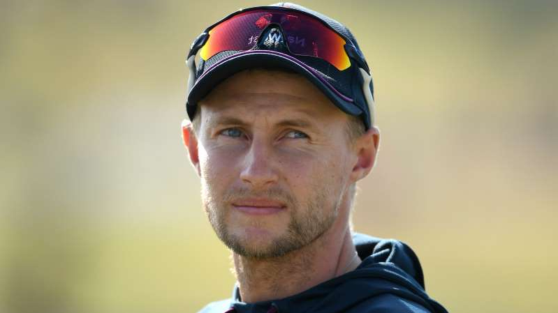 a close up of Joe Root wearing a hat: England Test captain Joe Root