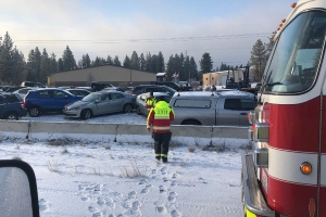 Over 60 cars pile up in Spokane crash after snowstorm
