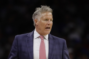Philadelphia 76ers coach Brett Brown to lead the Boomers to the Olympics, replacing Andrej Lemanis