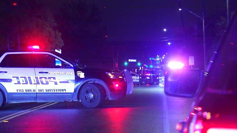 a truck that is sitting on a stage: A man was shot and killed by San Antonio police during a standoff on the Northeast Side overnight, Nov. 11, 2019. Officers said the suspect shot his wife in the leg and then himself before SWAT entered the residence. The still armed man was then shot by an officer, police said.
